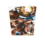Esfera redonda abstracta 992,042212 de Brown Impresión En Lona
