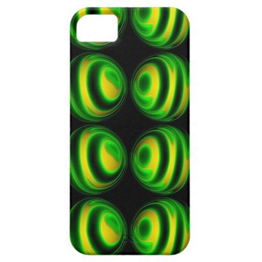 Esfera verde única iPhone 5 Case-Mate carcasas