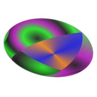 Esferas abstractas de la placa plato