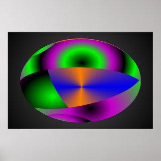 Esferas abstractas impresiones
