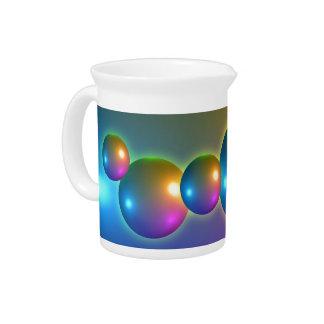 Esferas brillantes jarras para bebida
