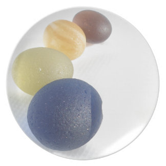 Esferas del vidrio del mar de Seaham Platos