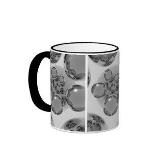 Esferas grises tazas