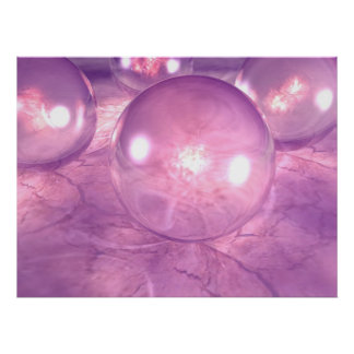 Esferas púrpuras posters