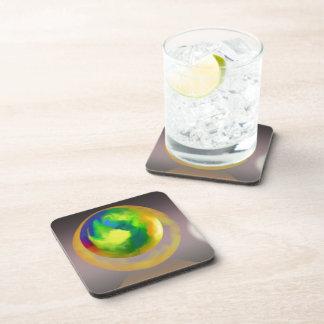 Esferas que suben el extracto posavasos de bebidas