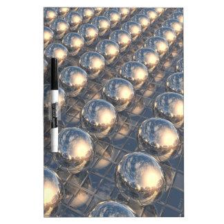 Esferas reflectoras del metal pizarras blancas de calidad