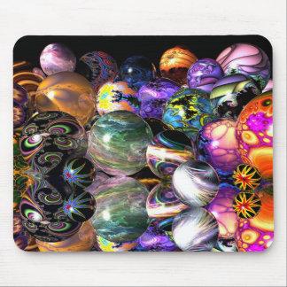 Esferas reflexivas del fractal alfombrillas de ratones
