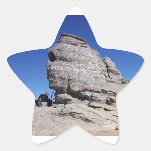 Esfinge de Bucegi Mts, megalito fresco de Rumania Colcomanias Forma De Estrella