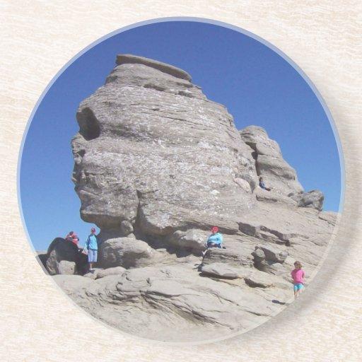 Esfinge de Bucegi Mts, megalito fresco de Rumania Posavasos Manualidades