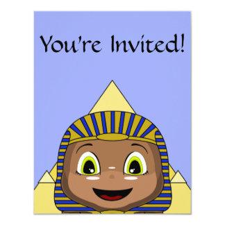 """Esfinge de Chibi con las pirámides Invitación 4.25"""" X 5.5"""""""
