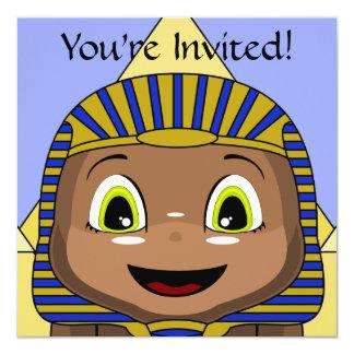 """Esfinge de Chibi con las pirámides Invitación 5.25"""" X 5.25"""""""
