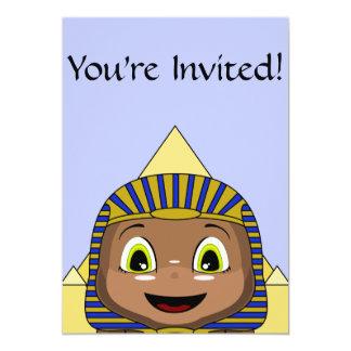 """Esfinge de Chibi con las pirámides Invitación 5"""" X 7"""""""