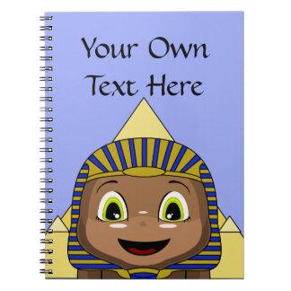Esfinge de Chibi con las pirámides Cuaderno