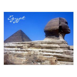 esfinge de la pirámide postal