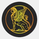 Esfinge del oro etiquetas redondas