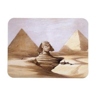 Esfinge delante de las pirámides iman rectangular