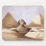 Esfinge delante de las pirámides tapete de ratones