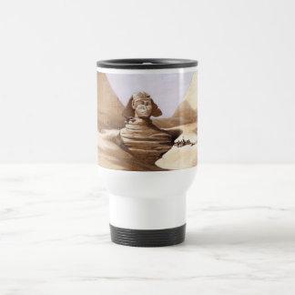 Esfinge delante de las pirámides taza de café