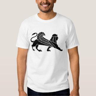 Esfinge, diseño griego del alivio playera