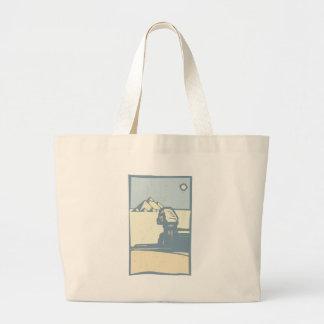 Esfinge egipcia bolsa tela grande