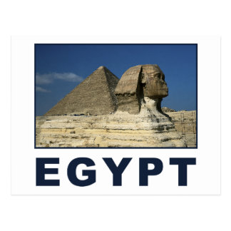 Esfinge egipcia tarjeta postal