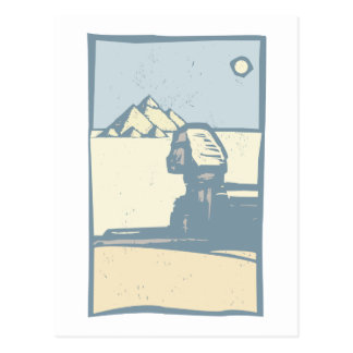 Esfinge egipcia tarjetas postales