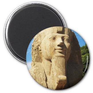 Esfinge - nuevo reino de Memphis EGIPTO Imán Redondo 5 Cm