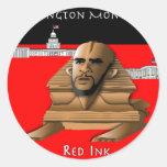 Esfinge Obama Etiquetas Redondas