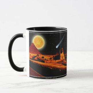 Esfinge y luna sobre el regalo del arte de las taza