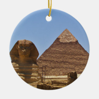 Esfinge y pirámide adorno