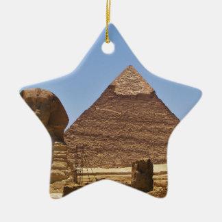Esfinge y pirámide adornos