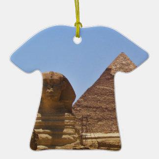 Esfinge y pirámide adorno de navidad