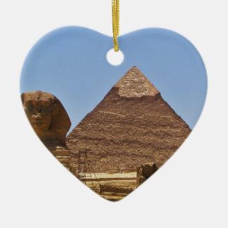 Esfinge y pirámide ornamento para reyes magos