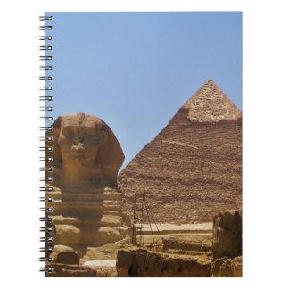 Esfinge y pirámide libretas