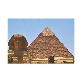 Esfinge y pirámide lona estirada galerías