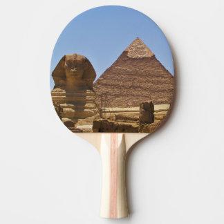 Esfinge y pirámide pala de tenis de mesa