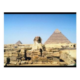 Esfinge y pirámide postales
