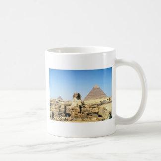 Esfinge y pirámide taza