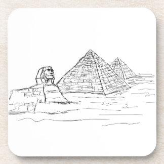 esfinge y pirámides de Egipto Posavasos De Bebida
