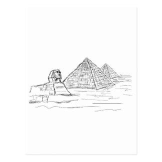 esfinge y pirámides de Egipto Tarjetas Postales
