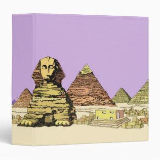 """Esfinge y una pirámide carpeta 1 1/2"""""""