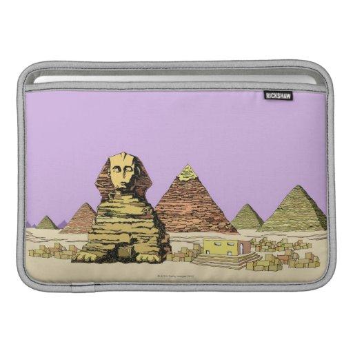 Esfinge y una pirámide funda macbook air