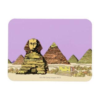 Esfinge y una pirámide imanes de vinilo