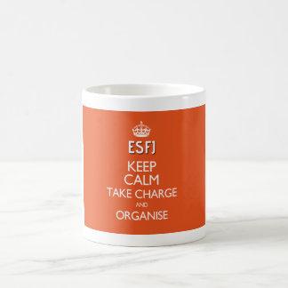 "ESFJ ""Keep calm, take charge and organise"" Mug"
