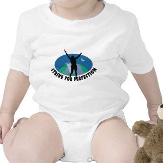 Esfuércese para la perfección trajes de bebé