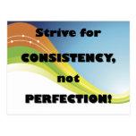 Esfuércese para la postal de la consistencia