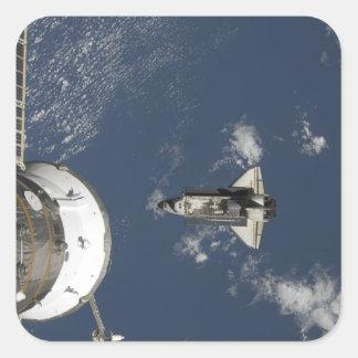 Esfuerzo 17 del transbordador espacial pegatina cuadrada