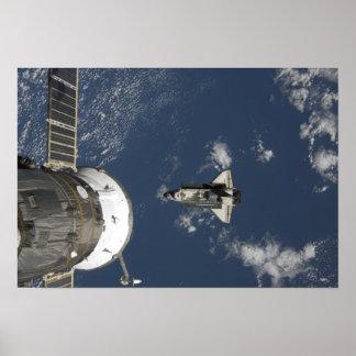 Esfuerzo 18 del transbordador espacial póster