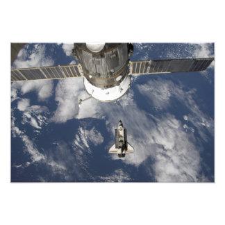 Esfuerzo 25 del transbordador espacial fotografías