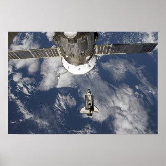 Esfuerzo 25 del transbordador espacial póster
